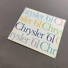 VINTAGE 1961 CHRYSLER DEALERSHIP BROCHURE NEWPORT NEWYORKER WINDSOR VALIANT