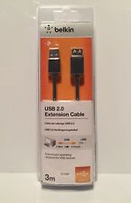Belkin (F3U153CP3M) 3m USB 2.0 Extension Cable (Charcoal)
