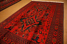 Stunning Pictorial Qafqazi Pattern Turkoman Natural Vegetable Dye Washable Rug