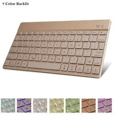 7 Color Backlit Ultra Slim Bluetooth 3.0 Keyboard for Microsoft Surface Pro 5