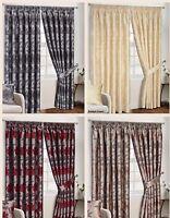 Fully Lined Pencil Pleat Luxury Jacquard Made Antalya Heavy Curtains