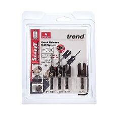 Trend SNAP/PC/A Snappy Countersink/Plug Cutter Set (4-Piece) NEW