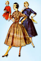 1950s Vintage Simplicity Sewing Pattern 4828 FF Misses Shirtwaist Dress Size 12