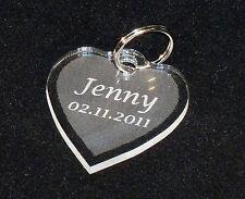 Herz Schlüsselanhänger aus Acryl mit Gravur nach Wunsch, Geschenk, TOP!!