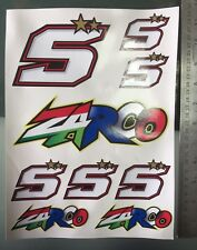 Johann Zarco #5 Stickers Decals - Sticker kit (A4 Size) (9 Stickers)