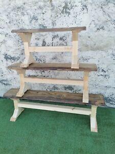 Rustic live edge top  bench  5 foot unpainted