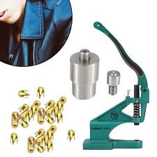 2mm Round Dome Stud Setting Tool Silver Dies Set for Hand Green Machine DIY Bags