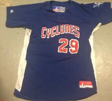Brooklyn Cyclones Reyes #29 Jersey Size Large Majestic MILB New York Mets NY