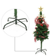 Christmas Tree Stand Green Metal Holder Base Cast Iron Stand 4 Feets Decoration