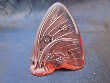 Lalique papillon ailes fermees verre emaillee lalique France Glass Butterfly
