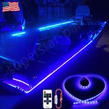New listing 16.4ft Waterproof Led Marine Boat Yacht Deck Pontoon Light Blue+Remote Control