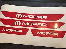 MOPAR RED Dodge Charger Vinyl Door Sill Decals 2006 2007 2008 2009 2010