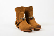 Zadig & Voltaire NIB Cognac Brown Suede Leather Changeable Harness Boots SZ 5 M