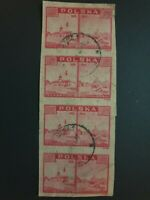 Poland used Stamps 1939-1945  Warsaw War Destruction No Gum - Nice Examples