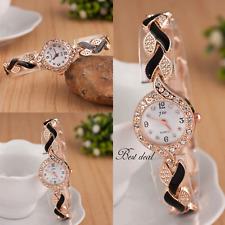 Ladies Bracelet Wrist Watches Women Round Face Dial Gold Colour Strap Analogue