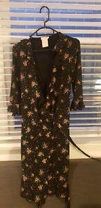 Collette by Collete Dinnigan floral print wrap dress XS