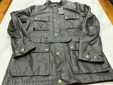 NWT $1150 Belstaff Streetmaster Jacket - Dark Brown Wax Canvas - Large to XL