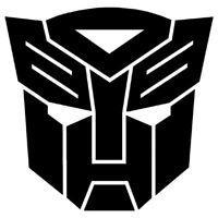 Transformer logo Edible Image cake Toppers8.5 x 8.5cm  #132