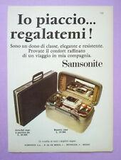 Pubblicita'Advertising Werbung Vintage SAMSONITE beauty case 1966 no lp cd (B1)