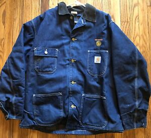 Ben Harper rare 1996 XL Carhartt blue Denim Jacket Vintage with lining