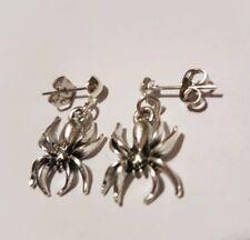 Tibetan Silver Spider Dangle Stud Earring
