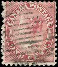 Canada #14 used VG 1859 First Cents 1c rose Queen Victoria CV$20.00