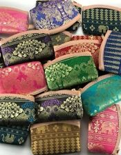 Purse Coins Handbag Set 20 Pcs Wallet Thai Elephant Silk Bag Card  Souvenir Gift