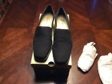 Black Vintage Trotters Slip On Micro Stretch Shoes Size 7B