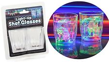 Set of 2 Light Up Plastic Drinking Shot Glass LED Lights Glasses Party Accessory