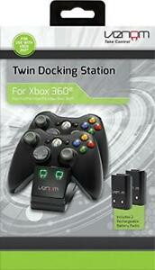 Venom Xbox 360 Docking Charging Station For Wireless Controllers + 2 Batteries