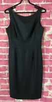 J.CREW Black 100% Wool Sleeveless Pencil Dress Womens Size 6