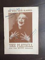 """He Who Gets Slapped"" Cast Signed Program -Susan Douglas/Reinhold Schunzel et al"