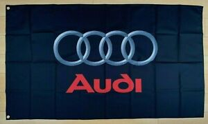 Audi Logo 3x5 ft Flag Banner Car Garage