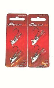 Berkley 1/4 & 3/16 Snap Jigs (Lot of 2-Watermelon Pearl-2/pk)