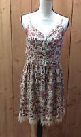 BeBop Floral Print Lace Junior Women's Dress Adjustable Straps Size XL