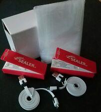 SmartSealer Food Storage Bag Sealers USB Rechargeable Cords 2-Pack Plus 20 Bags