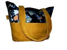 Sanderson Imitation Suede Tote Shopper Bag 4uni/college/school/work/holiday