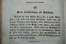 Siebel - Neues praktisch bearbeitetes Kochbuch - Würzburg 1818