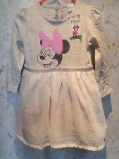 Disney Mini Mouse Grey Sequin sparkle Dress Baby Girl 12/18 months BNWT