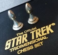 Pawn Authentic Star Trek Chess Piece SILVER  Franklin Mint TriDimensional 1994
