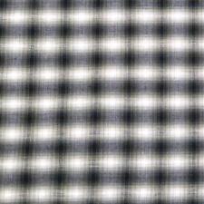 "36"" W Vintage Twilight Zone Plaid, Black, Navy Blue & White, Cotton,17""L x 36""W"