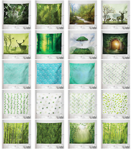 Ambesonne Green Microfiber Tapestry Wall Hanging Decor in 5 Sizes