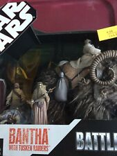 Star Wars 3d EPII Battle Packs Bantha With Tusken Raiders Action Figure Set NRFB