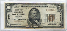 1929 $50 Banknote Type 1 Security-First National Bank of Los Angeles Ch #2491