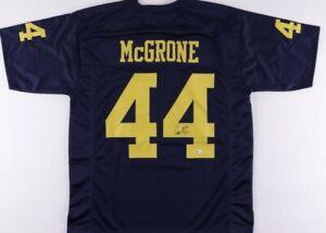 Cameron McGrone Signed Jersey (Beckett COA)Michigan Wolverines