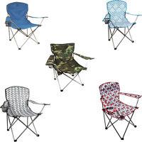 Highlander Moray Folding Outdoor Steel Frame Camping Festival Garden Chairs
