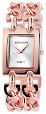 Excellanc 1518 Damen Armbanduhr roségoldfarben mit Metall Kettenarmband Uhr