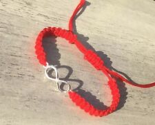 Infinity Bracelet Silver 925  Red Thread Protection Evil Eye Handmade