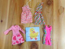 Barbie Doll Clothing Lot of 4 DRESSES LEOTARD Pinks Patterns