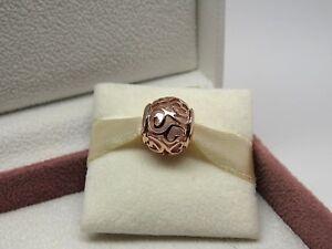NEW Pandora ROSE Hearts Filigree CZ Charm #787348CZ Box Choice